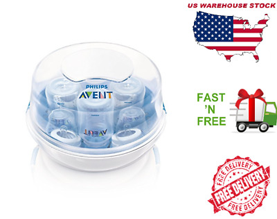 Philips Avent Microwave Steam Sterilizer, BPA-Free For Bottle Bab