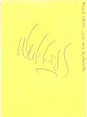 David Cross signed autograph book page 1980s English footballer West Ham Norwich