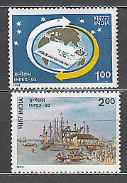 India - Correo Yvert 1208/9 ** Mnh  Filatelia