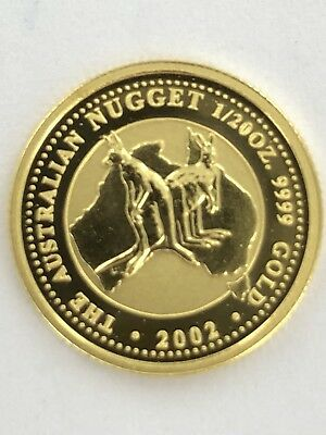 24ct Twentieth Ounce Gold Austrailian Nugget Coin 2002, bullion investment