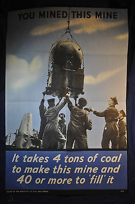 WW2 UK You Mined This Mine Poster