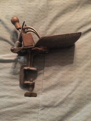 Vintage/Primitive Iron Goodell Co. Cherry Pitter w/ Table Clamp Antrim N.H.