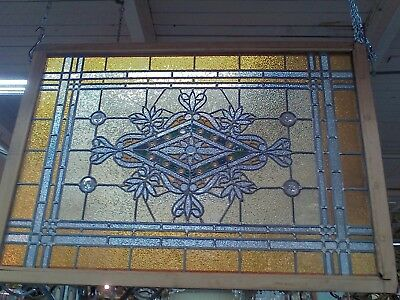 Antique Victorian Stained Glass Window Stunning 34 X 49 Beautiful