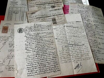 Lot of EIGHT documents 1800s