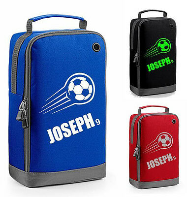 FOOTBALL BOOT BAG personalised school boys childrens shoes sports boots footy