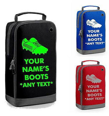 FOOTBALL BOOT BAG personalised school kids childrens shoe shoes sports boots new