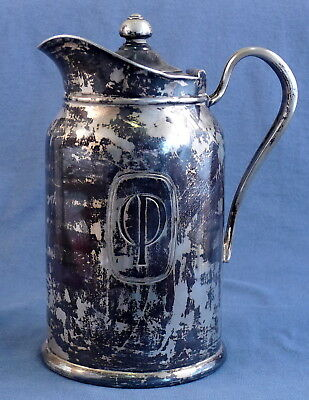 Century Plaza Hotel Ware Reed & Barton Silver Soldered Insulated Coffee Carafe