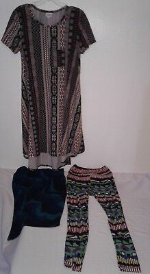 Lot of 3 LuLaRoe Top Size XS, Pencil Skirt size XS, Leggings One Size Pre-Owned