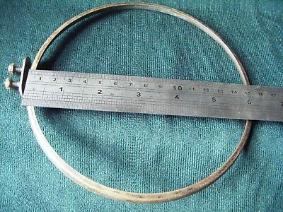 Brass clock dial with hinges 6 1/4 in - no glass