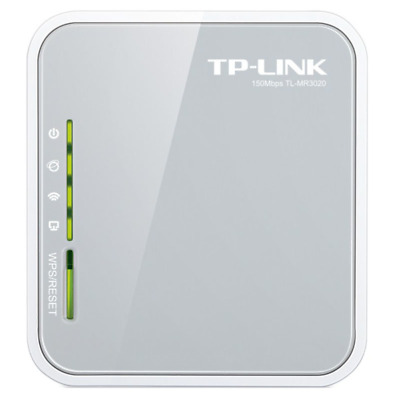 TP-LINK TL-MR3020 TL-MR3020 Single-band (2.4 GHz) Fast Ethernet 3G 4G Grey,White