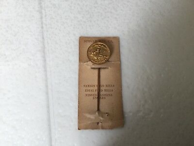 Antique Stickpin SAMSON Wind Mills Stover Mfg Freeport Illinois