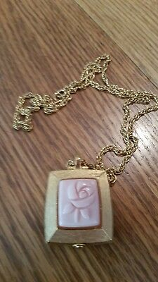 f94b24666 Vintage SIgned Mary Kay Solid Perfume Pendant on 24