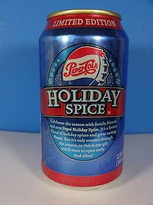 2004 Pepsi Cola Aluminum Can Holiday Spice Limited Edition 12 Oz