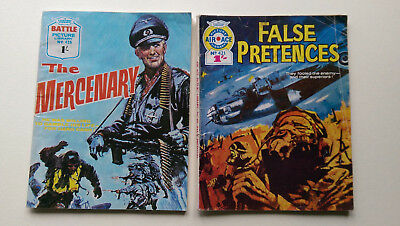 2 1969 Battle Library Comics . Air Ace No421 and Battle No425