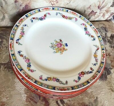 "4 Minton "" Minton Rose "" Dinner Plates"