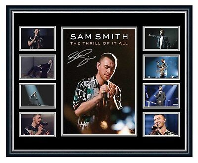Sam Smith 2018 The Thrill Of It All Signed Limited Edition Framed Memorabilia