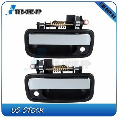 2Pcs Door Handles Black Exterior Front Right Left Pair for 95-04 Toyota Tacoma