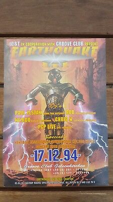 ID & T in cooperation with Groove Club present EARTHQUAKE - Flyer - 1994