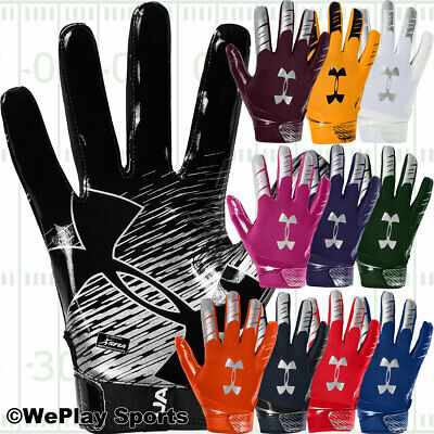 2018, Under Armour UA F6 ADULT Men's Football Gloves with Grabtack 1304694 NEW
