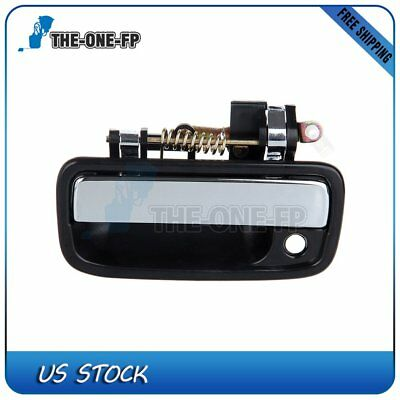 Black Exterior Outer Front Left Driver Side Door Handle for 95-04 Toyota Tacoma