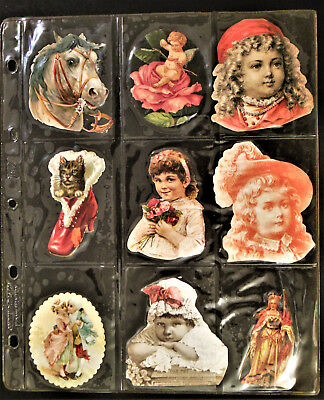 117 Beautiful Victorian Die Cuts Of All Sizes And Subjects Children, Animals Etc
