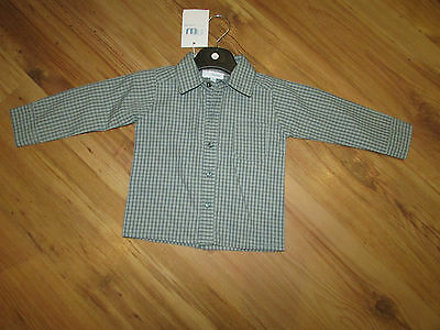 New With Tags Baby Boys Designer Shirt By Misk Iwawa 12 Months Checked