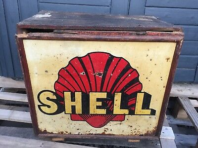 Caisse Wonder Box Bidon Huile Oldose Tin Oil Can  Shell 1930