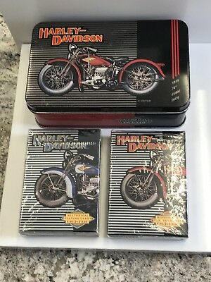 Vintage Harley Davidson Historical Archives Playing Cards Model Years 1903-1950