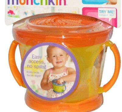 🌺NEW🌺 MUNCHKIN ORANGE SNACK CATCHER AGE 6 Mths 🌺🌺