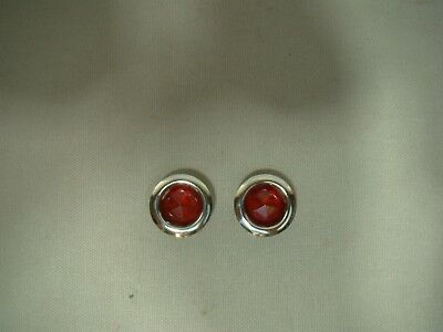 Red dot inserts with chrome ring tail light Red dots glass Red dots light insert