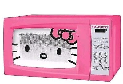 Hello Kitty Microwave Oven 0.7 Cubic Ft. 700 Watt 10 Power Levels MM-07009-TA