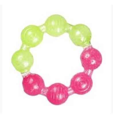 🌺new🌺 Munchkin Pink & Green Round Shape Teether From Birth 🌺🌺