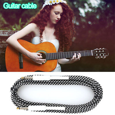 5D28 6.35mm 10FT Guitar Electric AMP Patch Straight JACK Male Lead Cable Cord