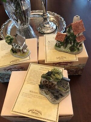Lot of 3 David Winter Cottages P Original Boxes from 1982-1992 3 with COAs