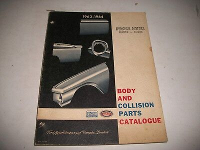1963-1964 Ford Body & Collision Parts Catalog Ford Mercury Lincoln Ford Trucks