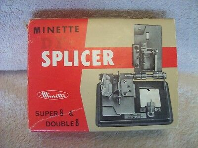 Minette Film Splicer For Super 8 & Double 8 Boxed with Manual