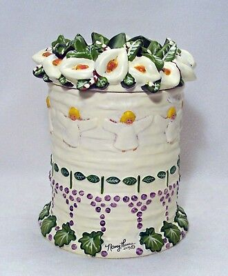 Nancy Thomas Angel Cake Canister Cookie Jar**new In Box**wow!!