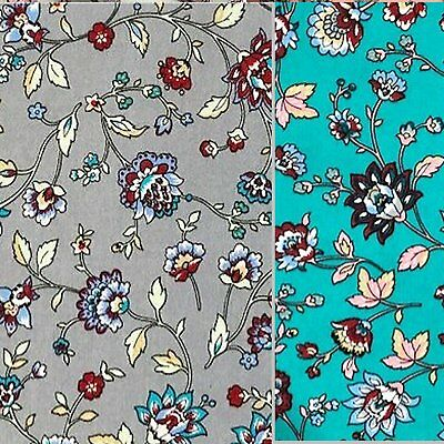 Cotton Fabric / Material - Oriental Floral Fabric
