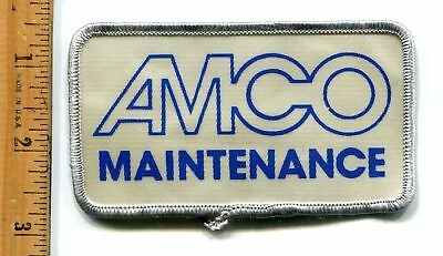 Amco  Maintenance- Oilfield Services-  Jacket Patch Vtg. Advertising