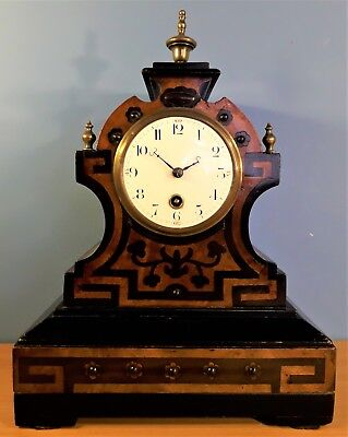 Antique French Aesthetic Movement Mantel Clock by Japy Freres. Working order