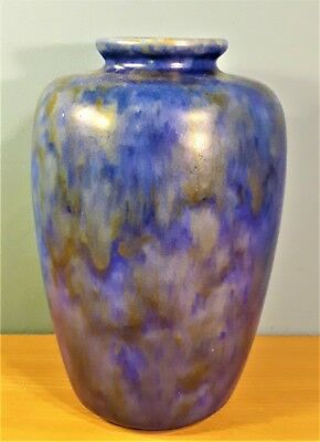 Vintage Chameleon Ware George Clews & Co Royal Blue Vase