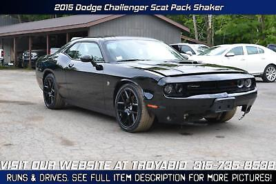 Challenger NO RESERVE 2015 Dodge Challenger RT Scat Pack Shaker 6.4 Rebuildable Car Repairable Damaged