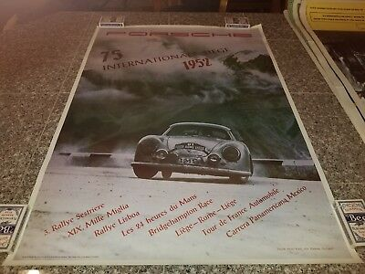 Vintage Repro Poster Porsche 75 Internationale Siege 1952 By Porsche Series #1