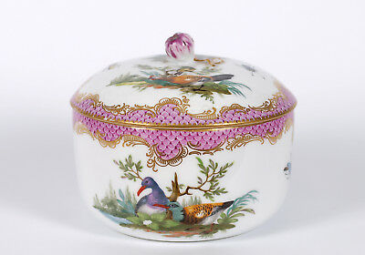 Antique Very Fine and Large Meissen Sugar Bowl Circa 1770
