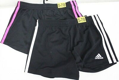 *NEW* Adidas Girl's Youth Core Striped Shorts Activewear