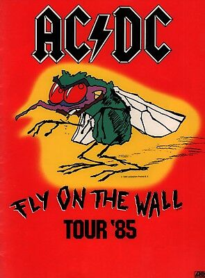 Ac/dc 1985 Fly On The Wall U.s. Tour Concert Program Book / Nmt 2 Mint