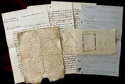 1700-1800s Collection of SIX Handwritten Documents