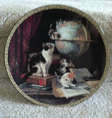 """Feline Fancy """"Globetrotters"""" Victorian Collector Plate Cat/Kittens Numbered 1993"""