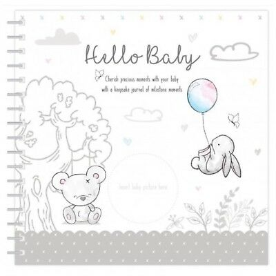 Hugs & Kisses New Baby Keepsake Journal Milestone Record Book Boys Girls Unisex