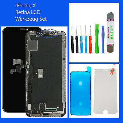 LCD RETINA HD Display für iPhone X 3D Touch Screen Bildschirm Schwarz Black